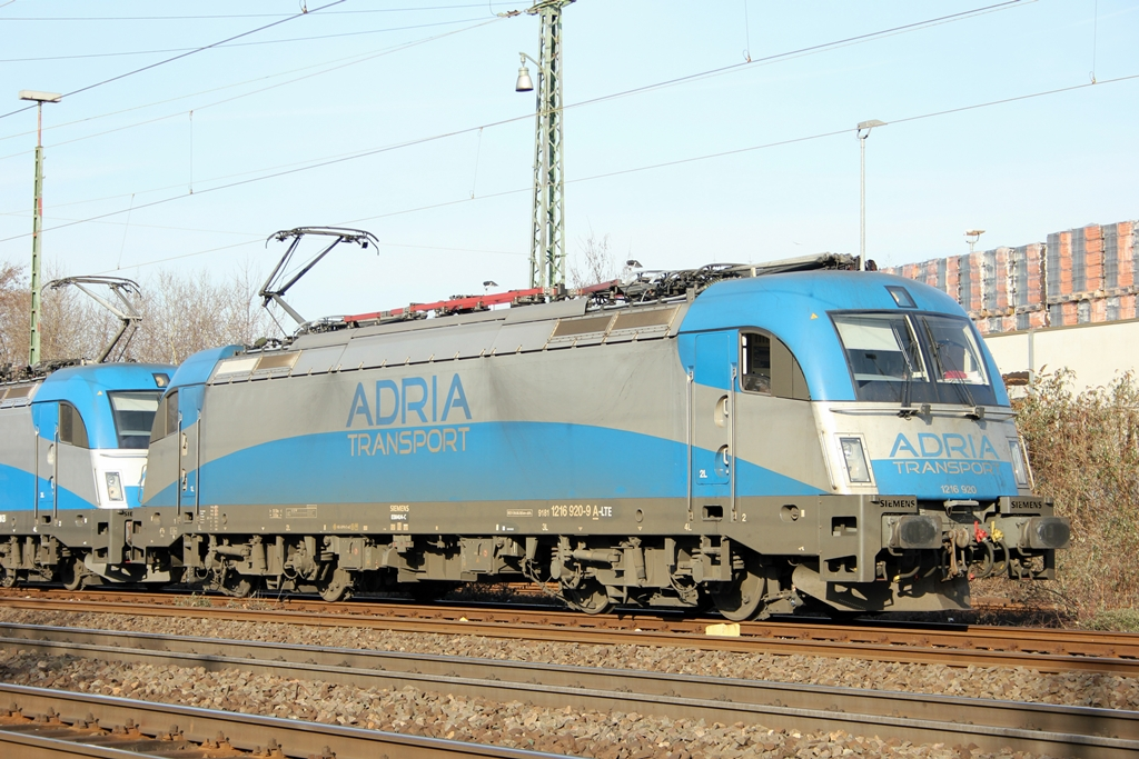 Adria Transport 1216 920-9 i.E. für LTE in Beuel am 5.2.2012