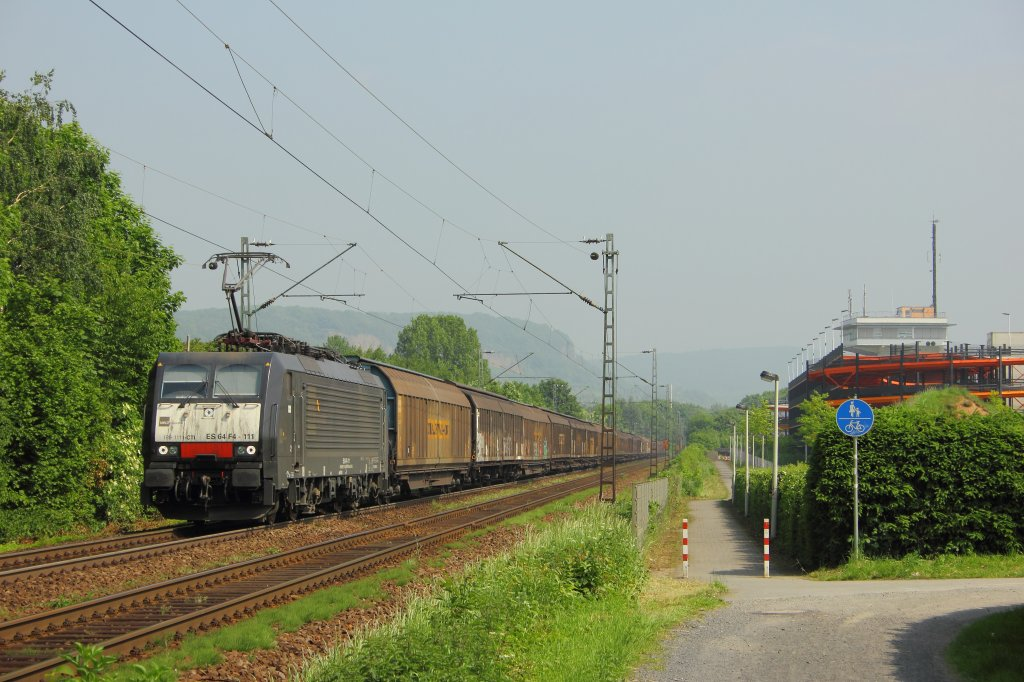 Captrain Italia ES 64 F4-111 (189-111) in Limperich am 22.5.2012