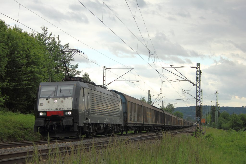 Captrain Italia ES 64 F4-111 (E189-111) in Unkel am 15.6.2012