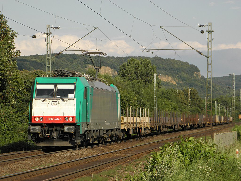 CFL E186 246-5 in Limperich am 21.7.2011