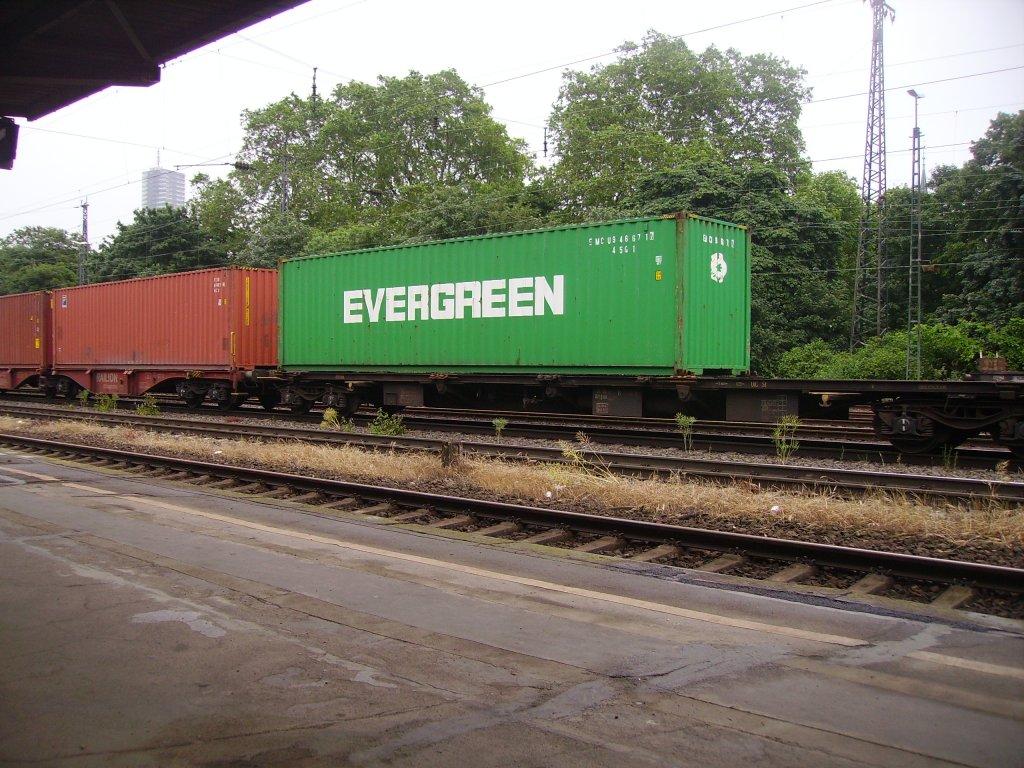 containerwagen mit evergreen in k ln west bahn007