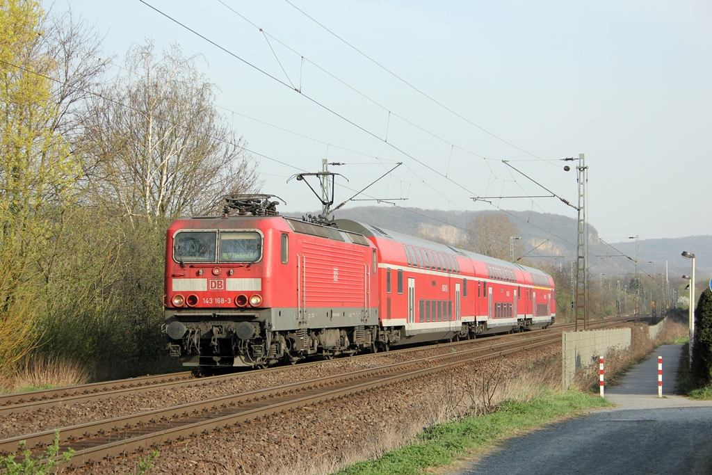 DB 143 168-3 in Limperich am 27.3.2012
