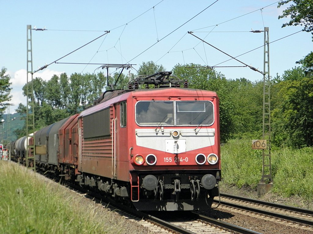 DB 155 214-0 in Unkel am 10.6.2011