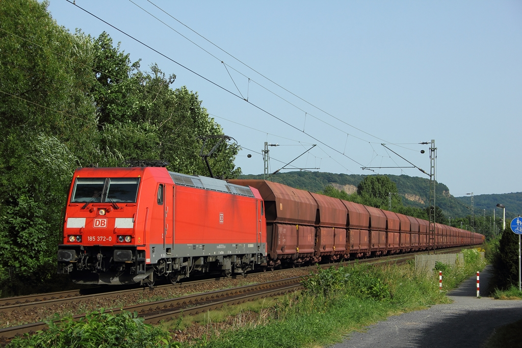 DB 185 372-0 in Limperich am 19.8.2012