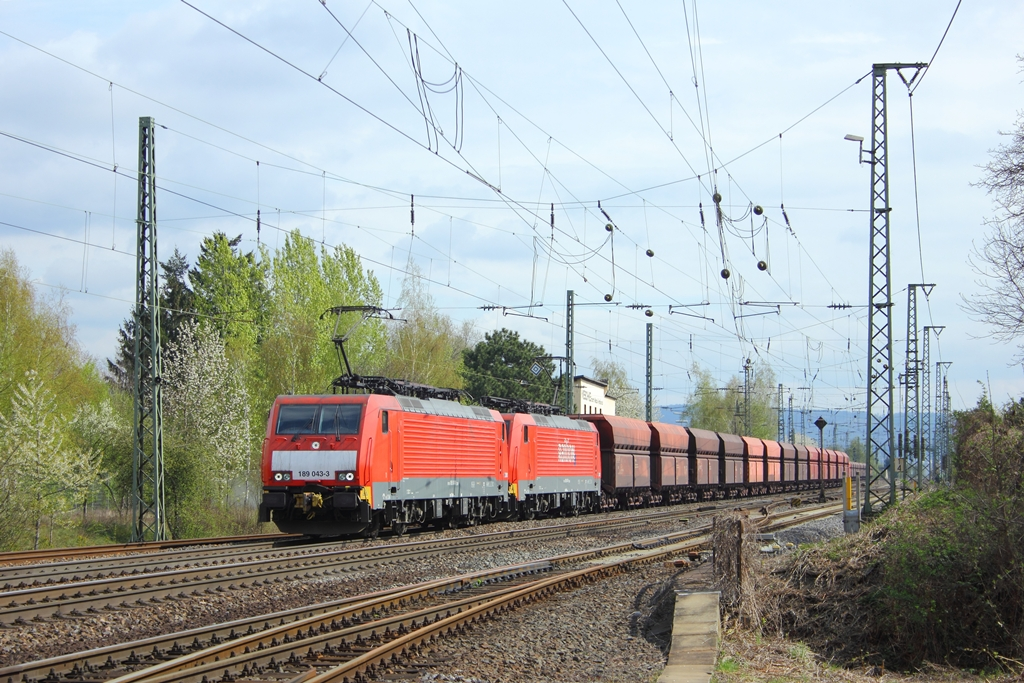 Railion 189 043-3 in Neuwied am 13.4.2012