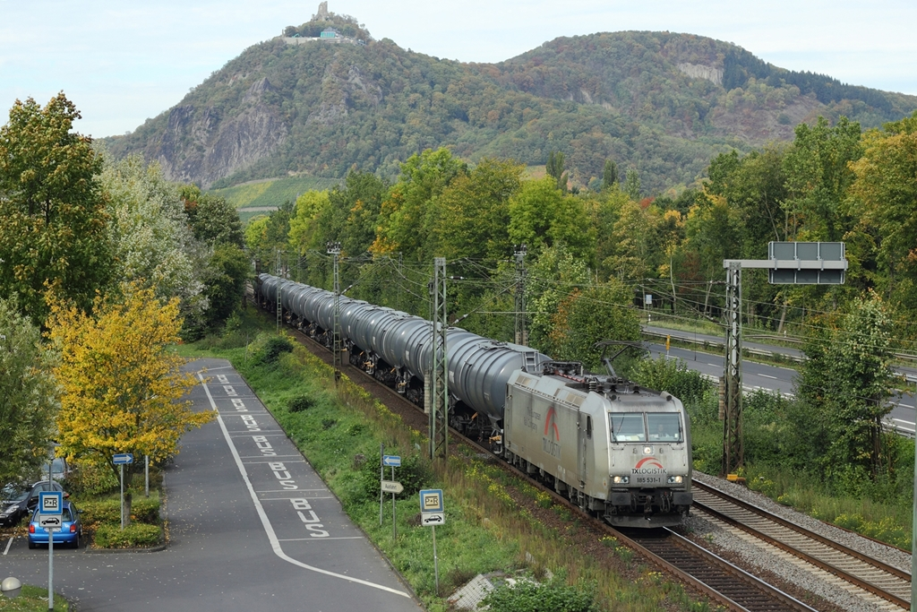 TXL 185 531-1 in Bad Honnef am 8.10.2012. Gruß an den Tf