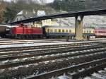 Br 260/106751/260-109-4-mit-einem-sonderzug-in 260 109-4 mit einem Sonderzug in Linz am Rhein am 3.12.10