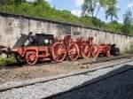 Eisenbahnmuseum Dieringhausen/80444/das-untergestell-einer-dampflokomotive-der-seltenen Das Untergestell einer Dampflokomotive der seltenen Baureihe 39 im Eisenbahnmuseum Dieringhausen.