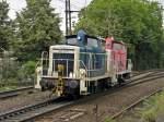rhein-sieg-eisenbahn-rse/144833/rse-365-131-2-mit-365-140-3 RSE 365 131-2 mit 365 140-3 in Beuel am 10.6.2011